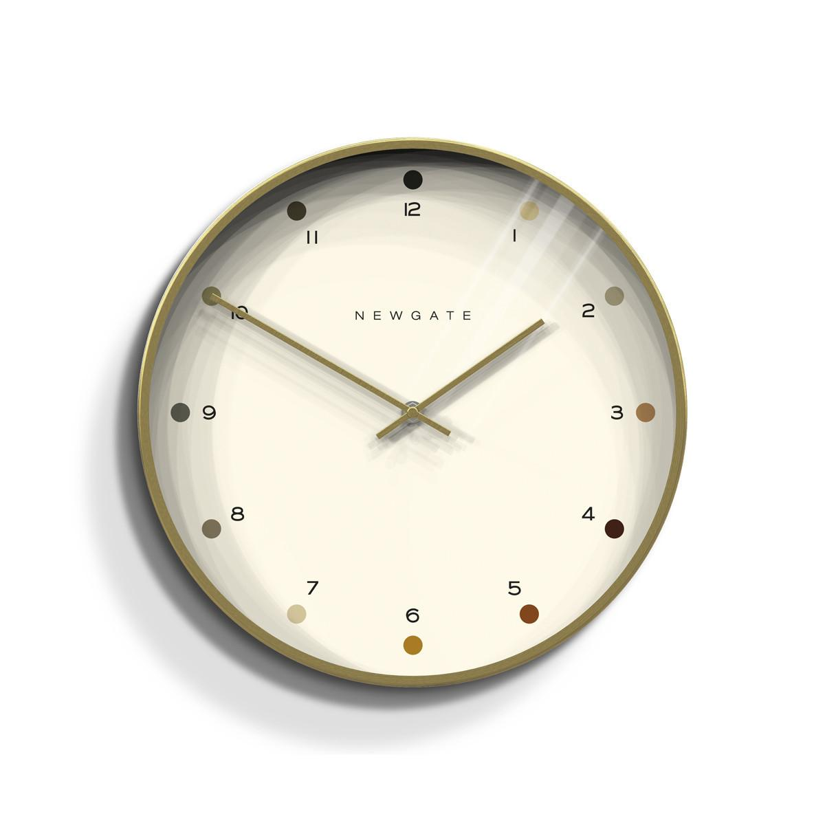 Contemporary Brass Dot Wall Clock Newgate Clocks Oslo