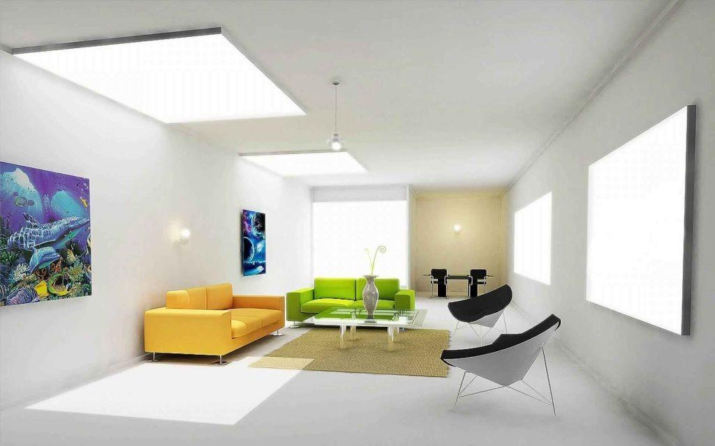 Contemporary Bright Color Furnitures Living Room