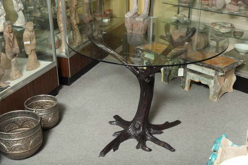 Contemporary Bronze Tree Trunk Dining Table Base