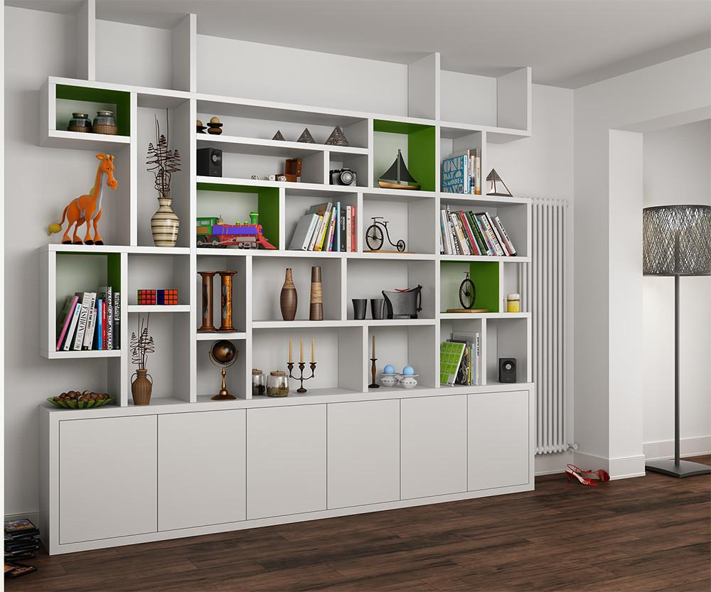 Contemporary Built Bookcase Nw5