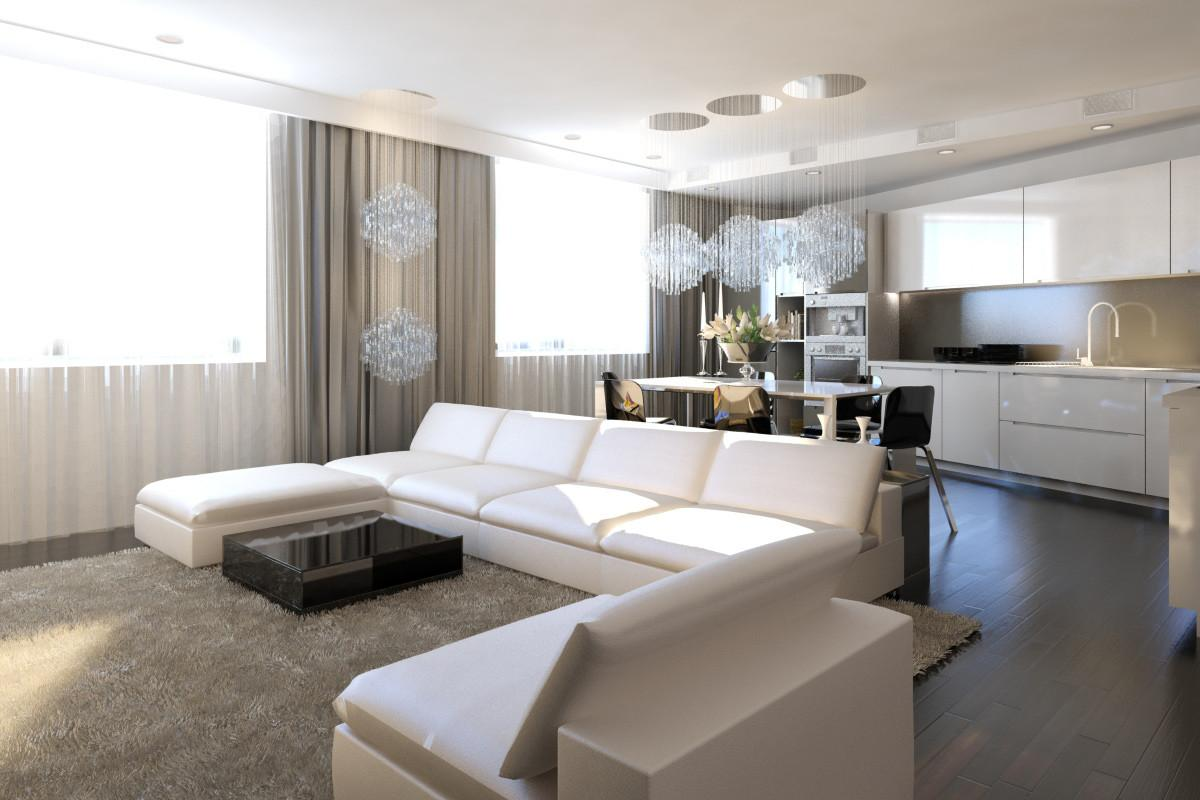 Contemporary Chic Comfort Family Moscow Apartment