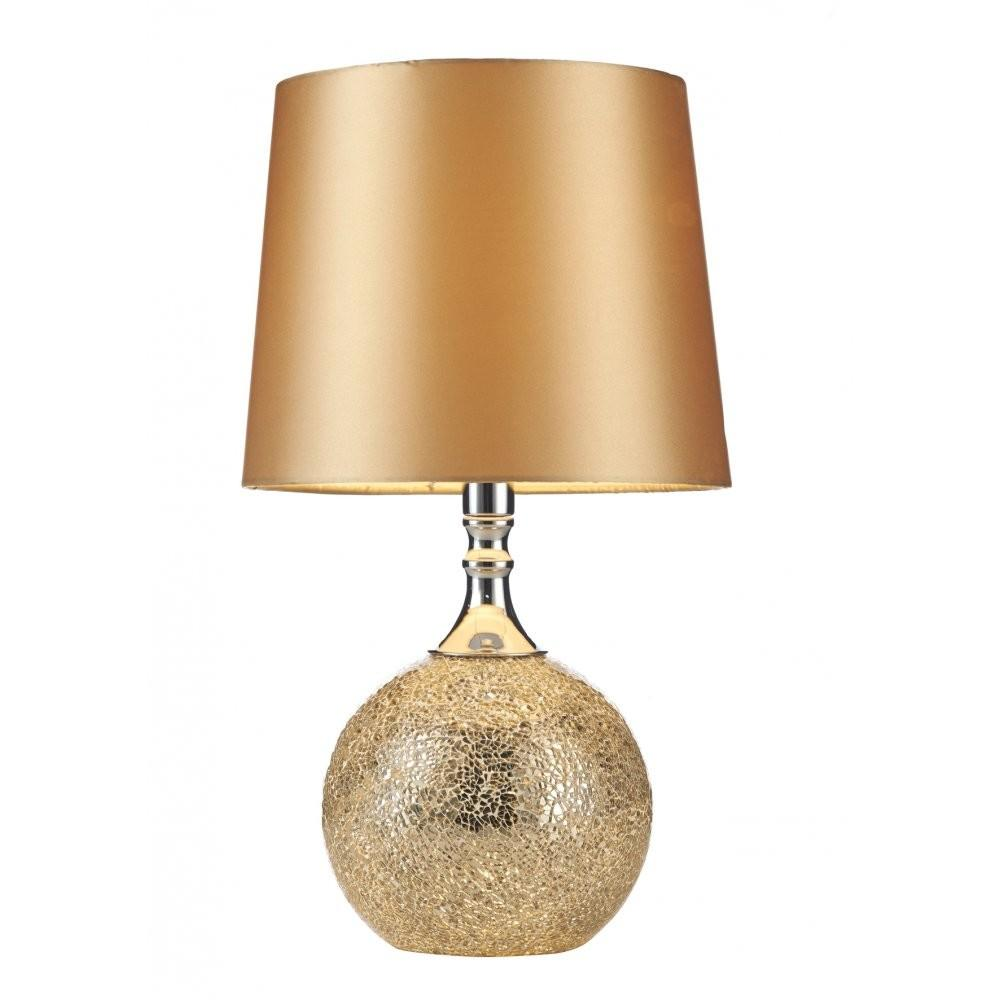 Contemporary Chrome Gold Mosaic Table Lamp Shade