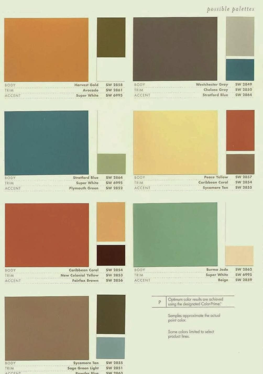 Contemporary Color Palette 2017 Mid Century Modern