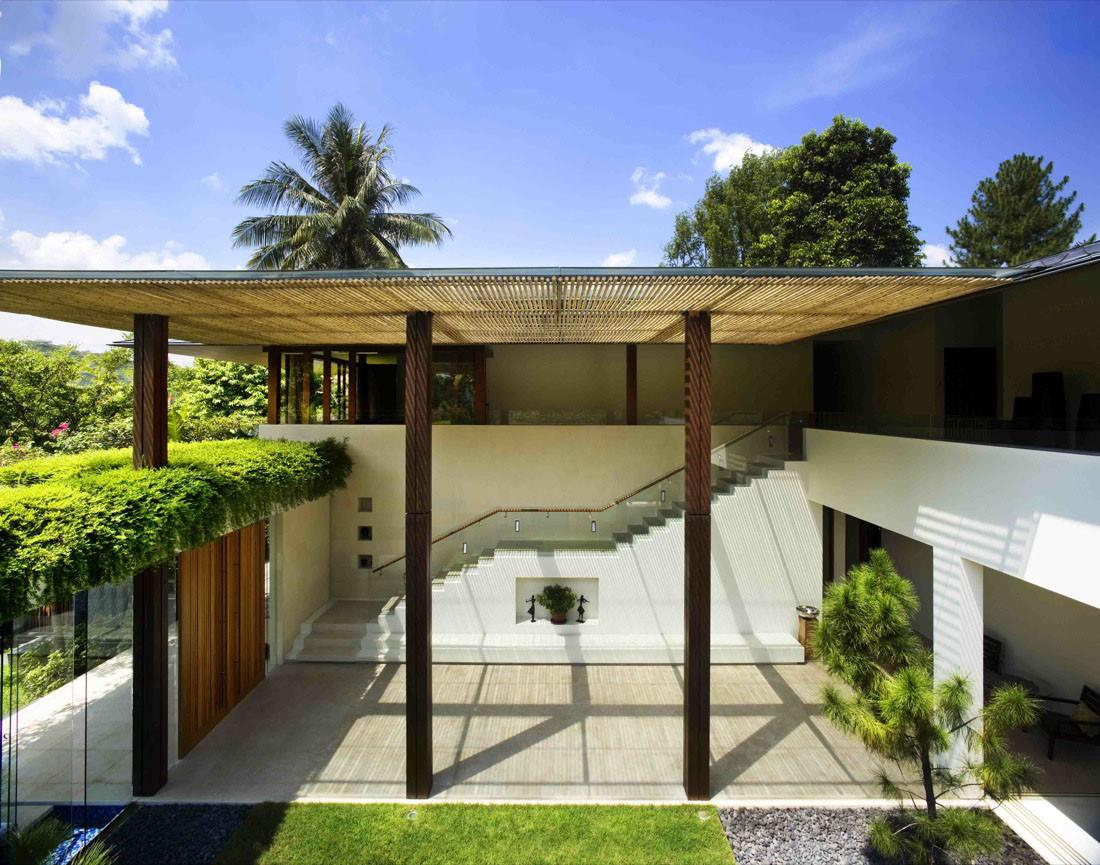 Contemporary Courtyard House Singapore Idesignarch