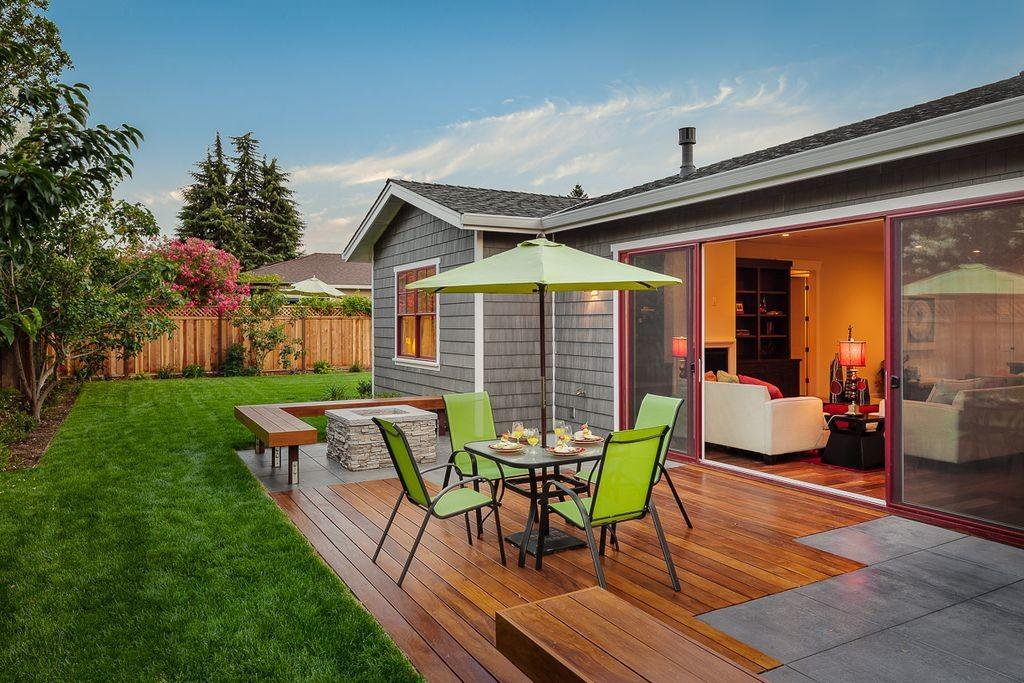 Contemporary Deck Fire Pit Urban West Zillow