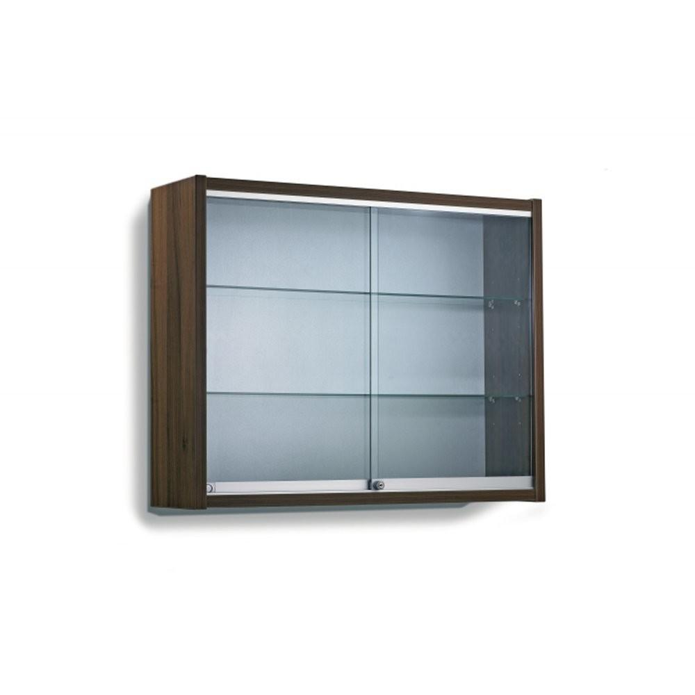 Contemporary Display Cabinet Glass Shelves Wall Mounted