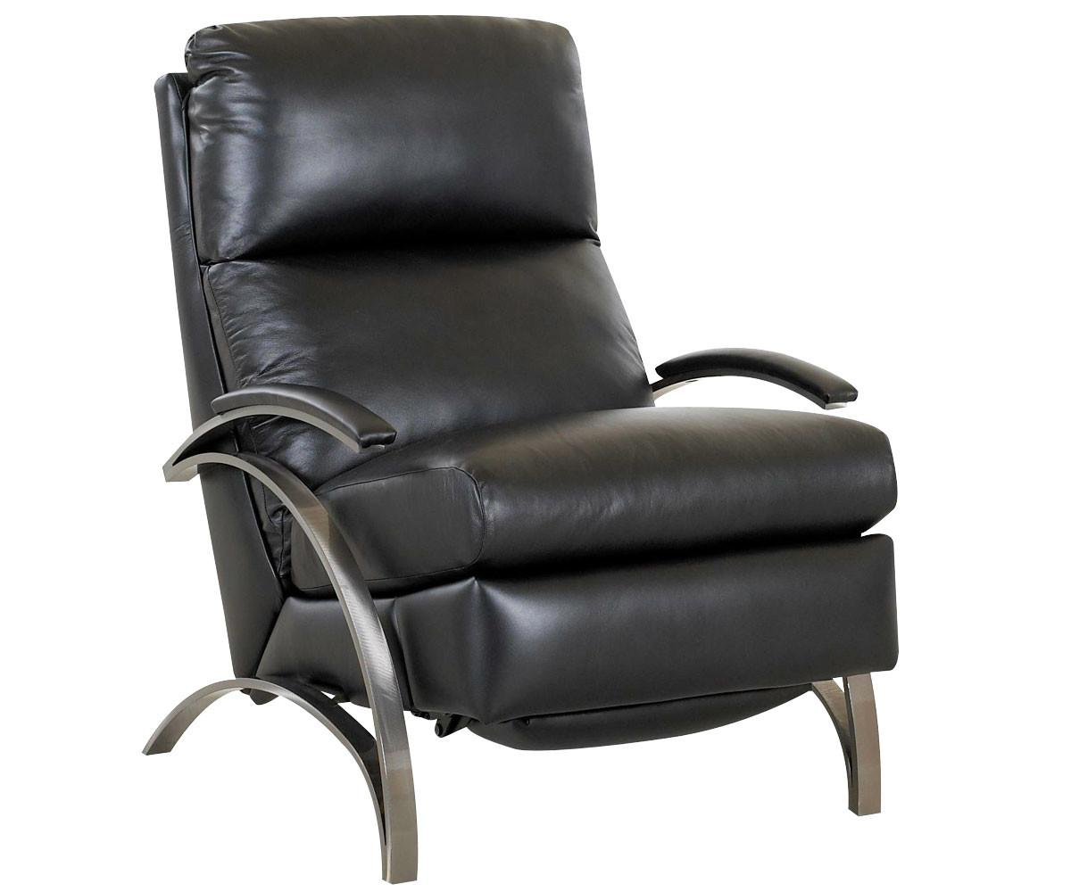Contemporary European Leather Recliner Chair Steel