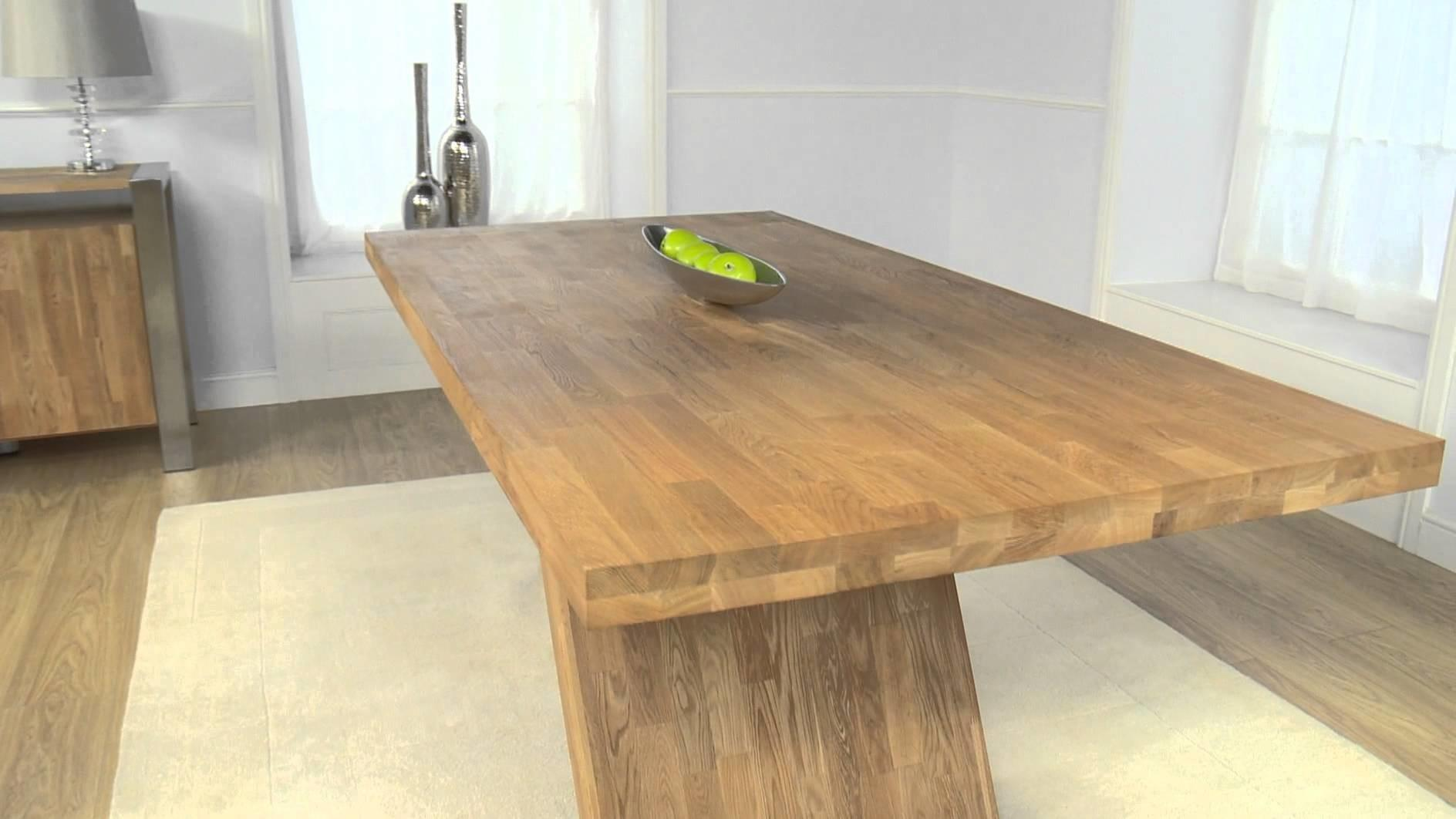 Contemporary Furniture Metal Oak Dining Table