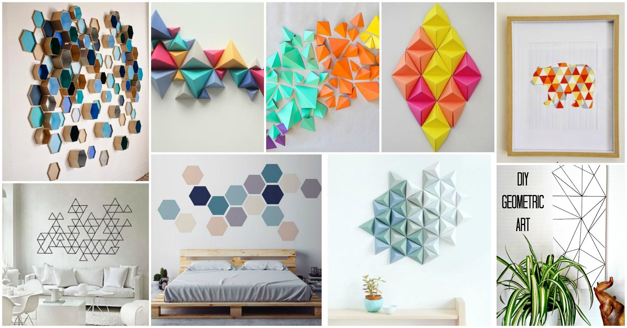 Contemporary Geometric Wall Art Crafts Amaze