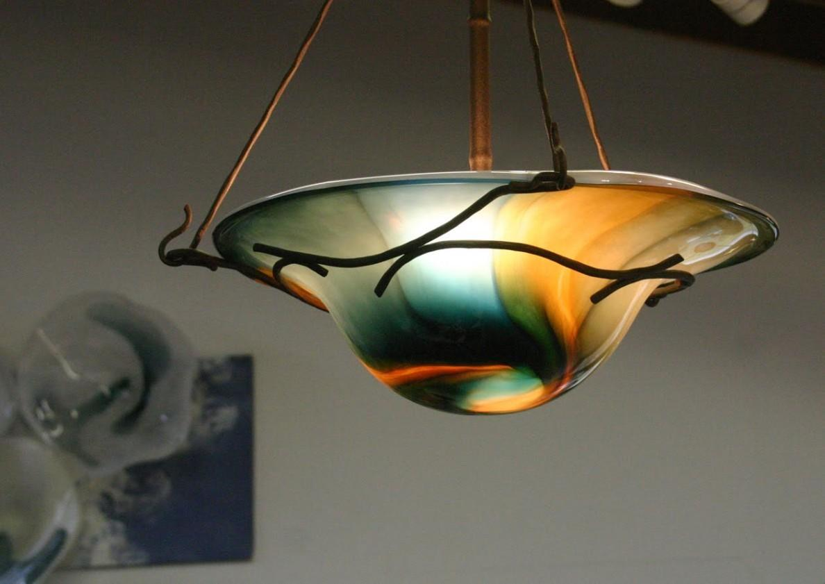 Contemporary Hand Blown Glass Pendant Lights Happy All