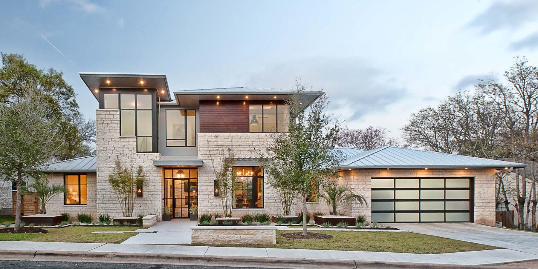 Contemporary Home Rustic Elements Connects Its