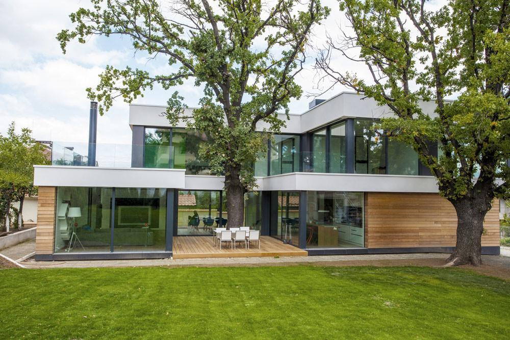Contemporary House Integrating Trees Its Modern