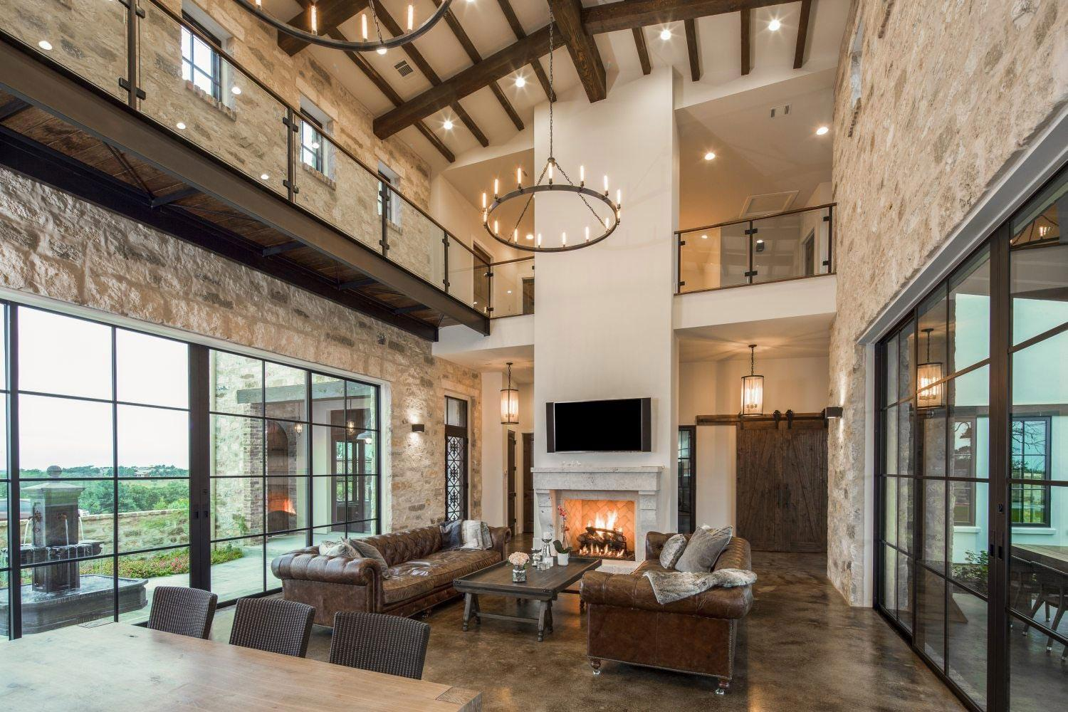 Contemporary Italian Farmhouse Texas Rustic