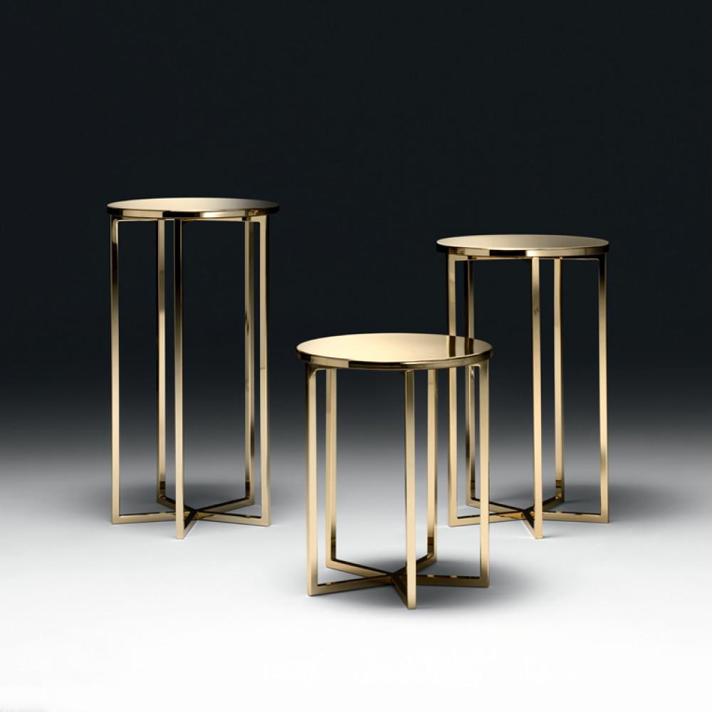 Contemporary Italian Gold Designer Side Table