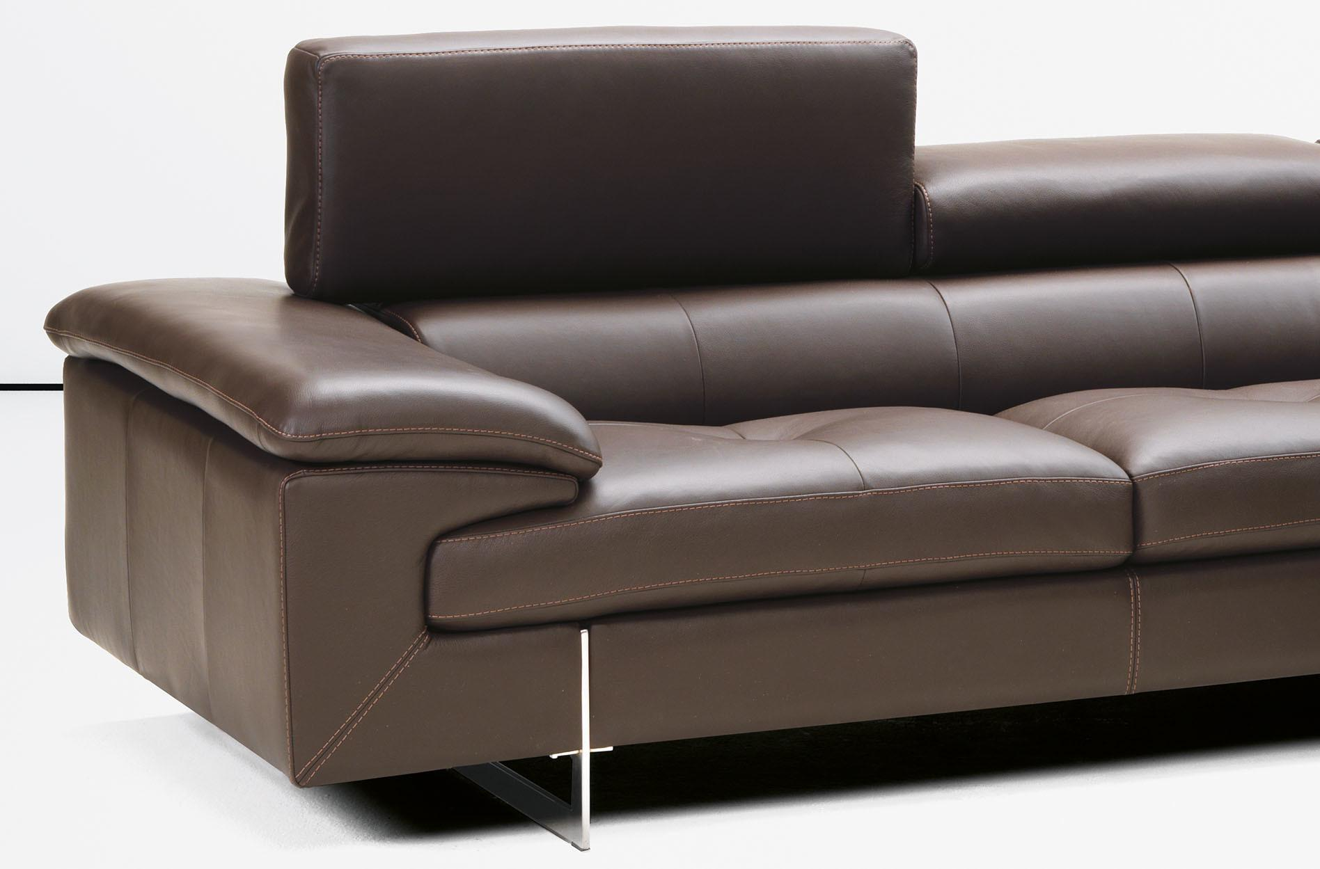 Contemporary Italian Leather Sectional Optional