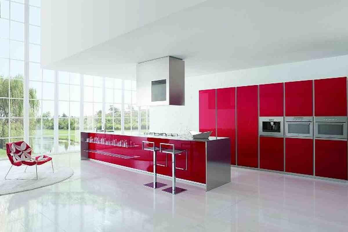 Contemporary Kitchen Designs Red Furniture Modern