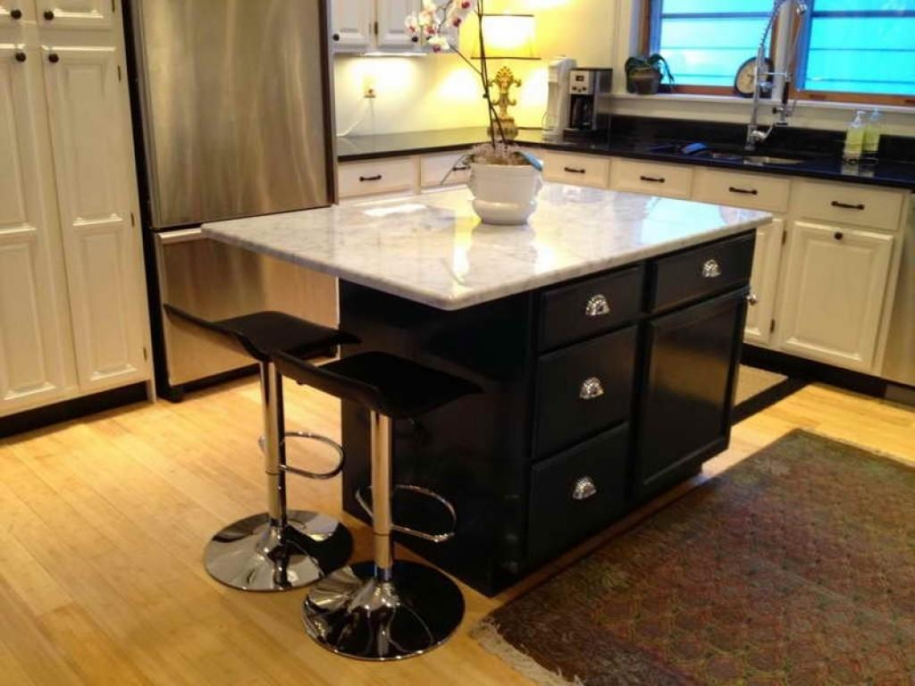 Contemporary Kitchen Island Wheels Seating Home
