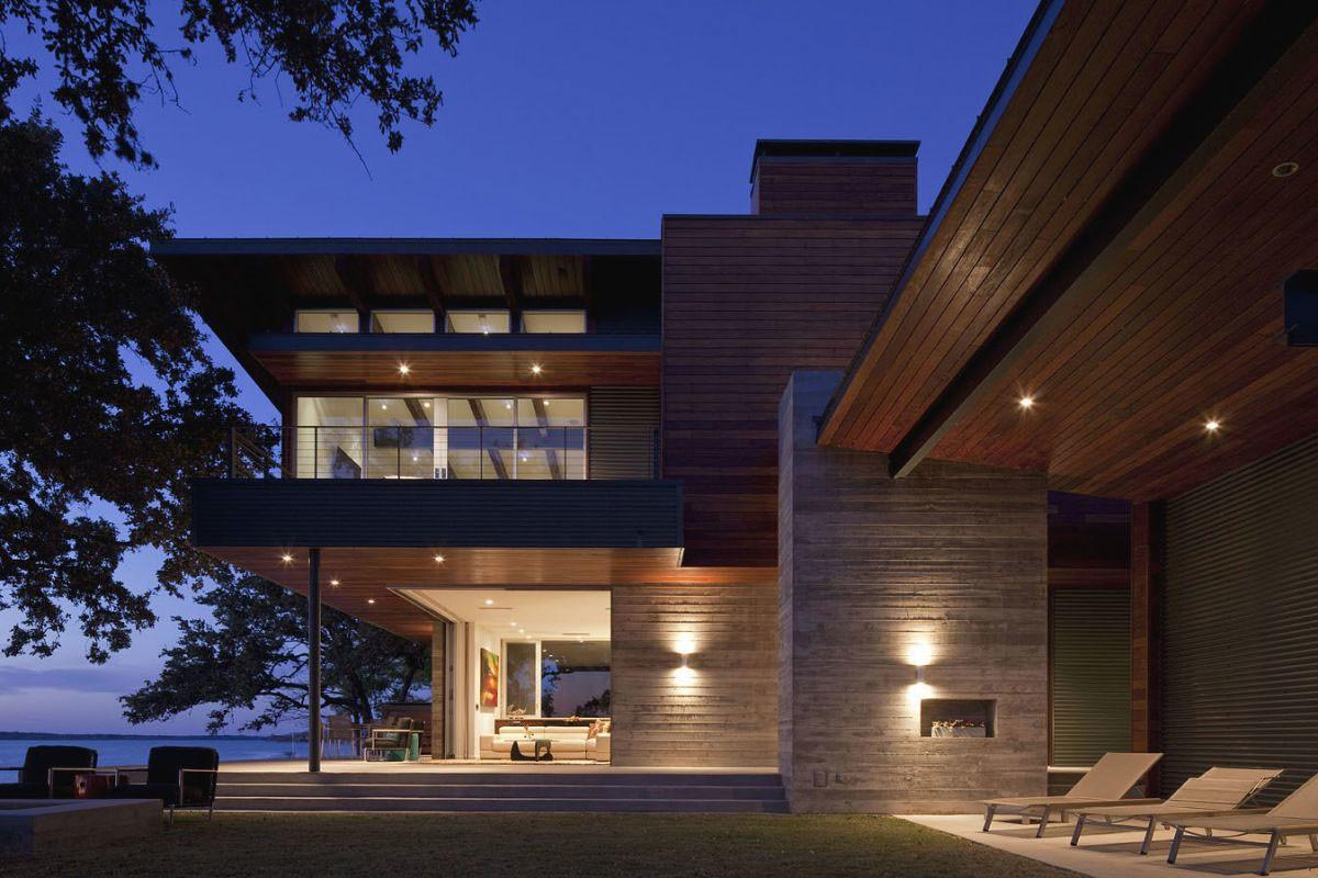 Contemporary Lake Lbj Retreat Dick Clark Architecture