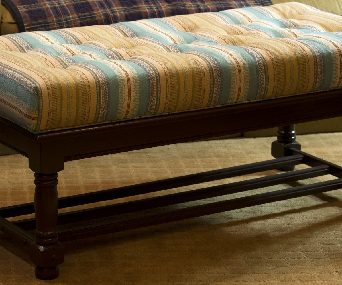 Contemporary Large Upholstered Coffee Table Ottoman Styles