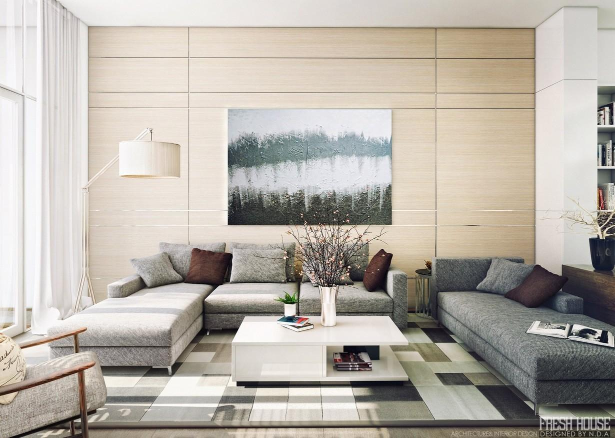 Contemporary Living Room Interior Designs Warm