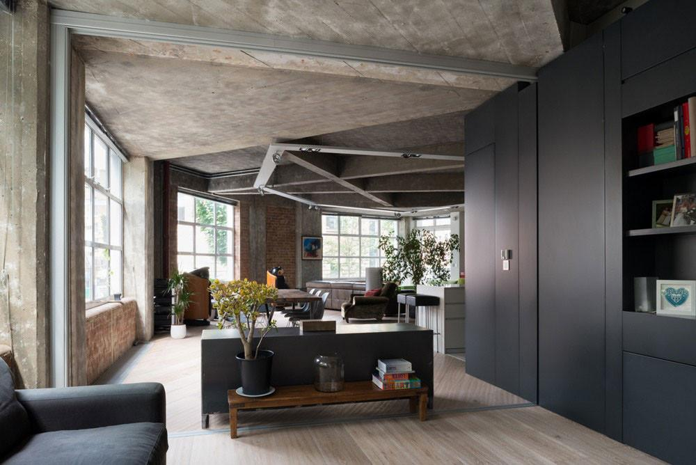 Contemporary Loft London Disguising Its Former