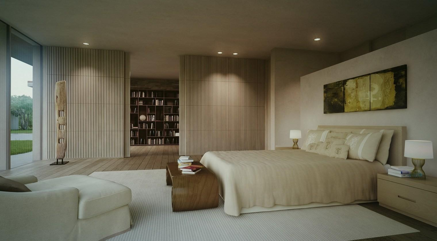 Contemporary Master Bedroom Decorating Ideas White