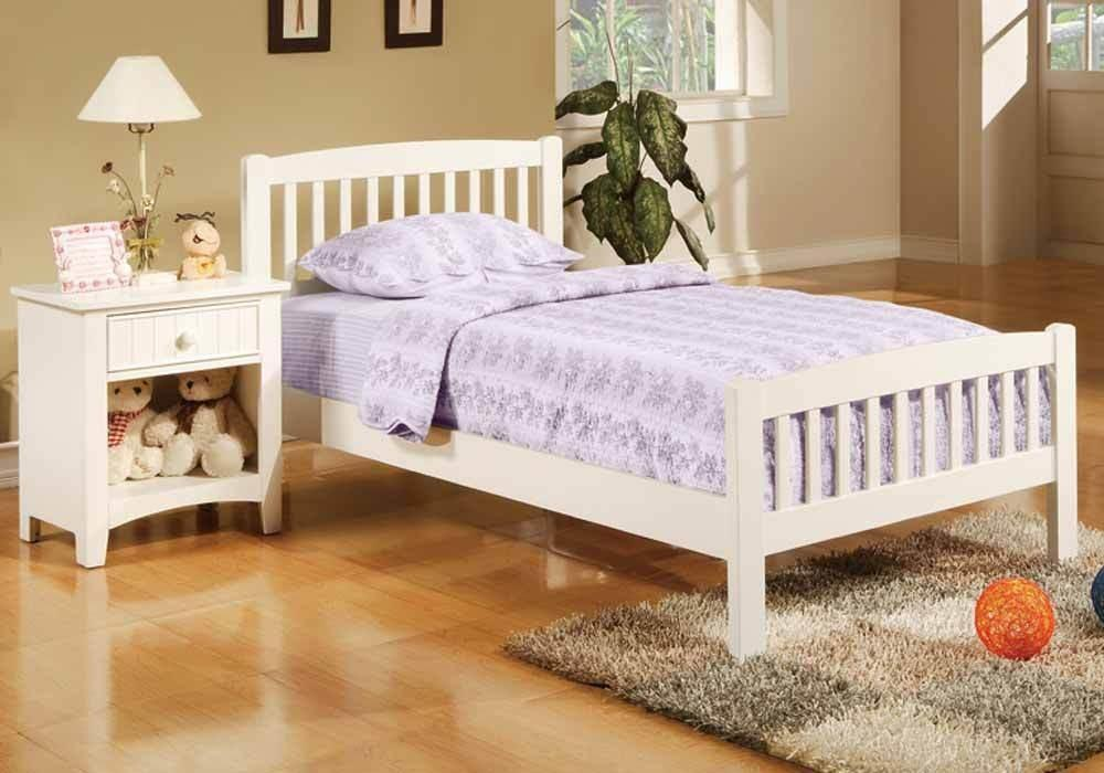 Contemporary Mission Style Youth Kids Bedroom Twin Bed