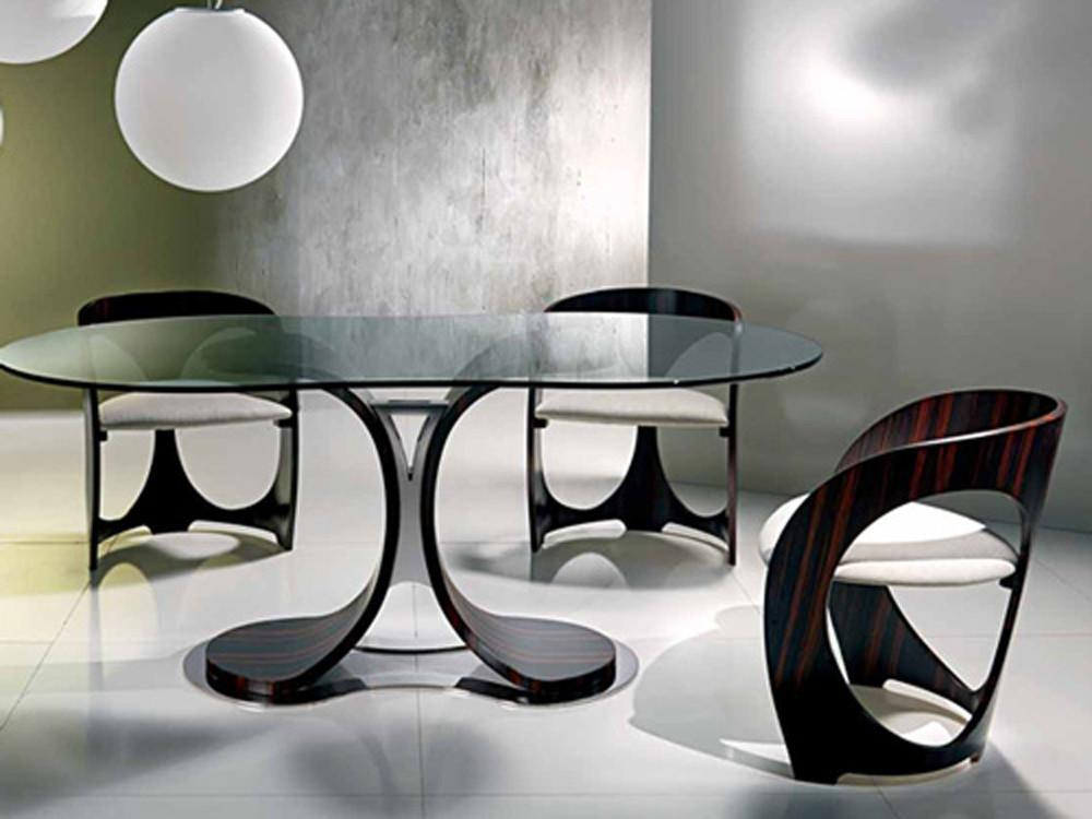 Contemporary Modern Chairs Dining Table Set