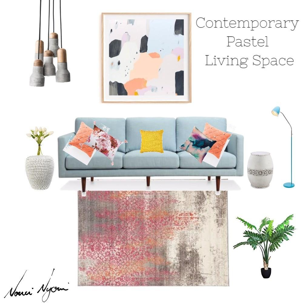 Contemporary Pastel Living Space Style Love