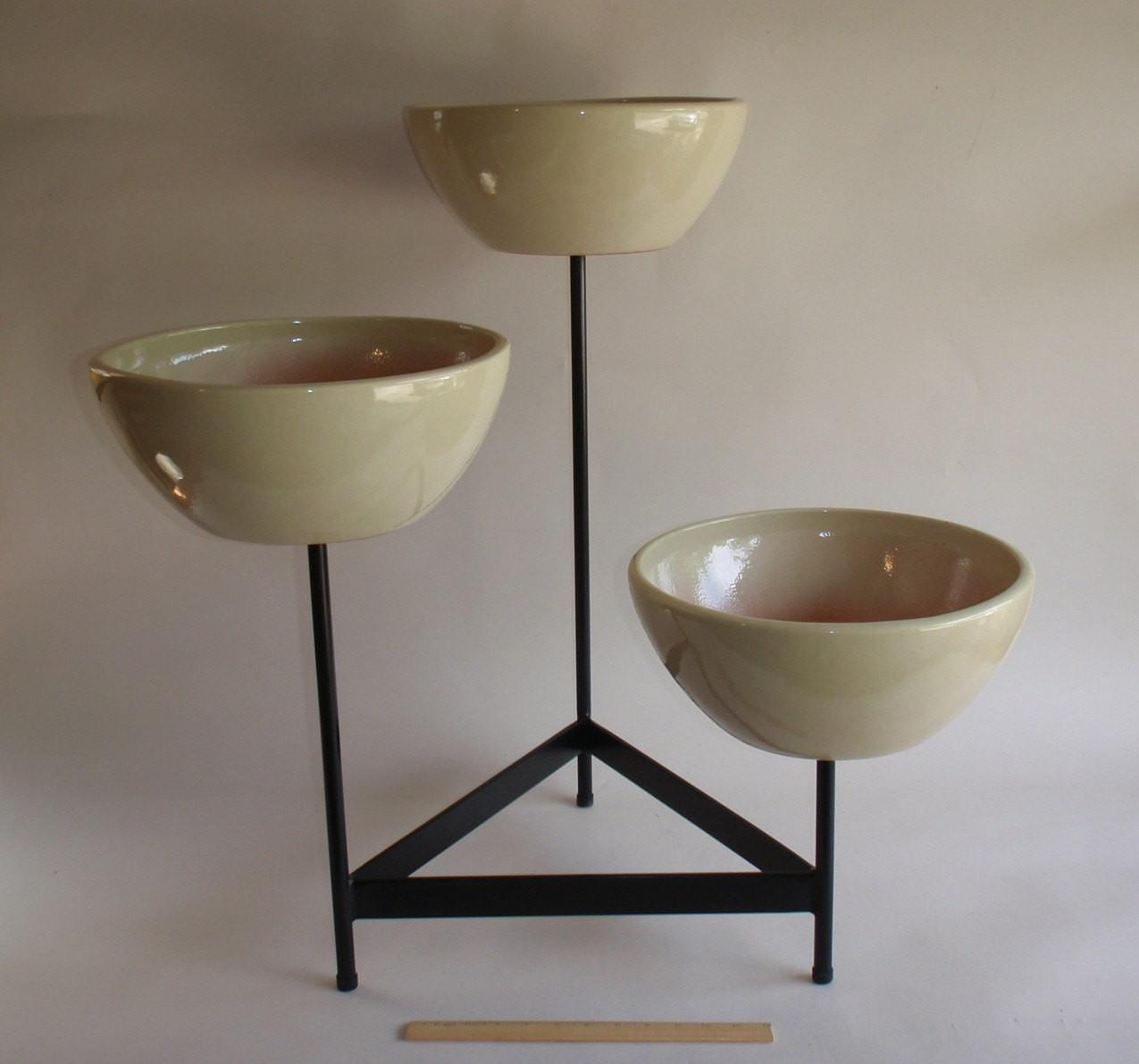 Contemporary Plant Stand Outdoor Planter Modernist