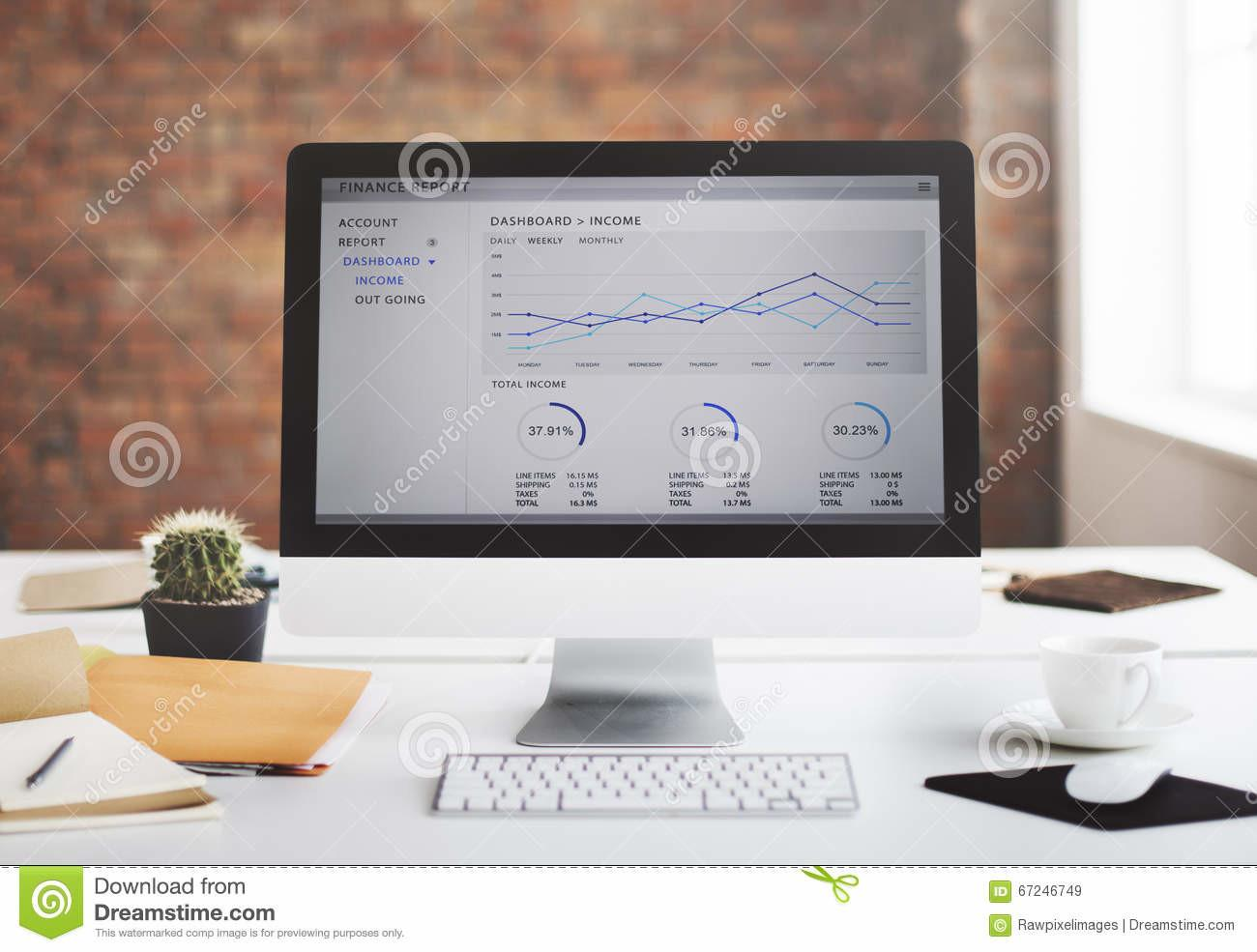 Contemporary Room Workplace Office Supplies Concept Stock