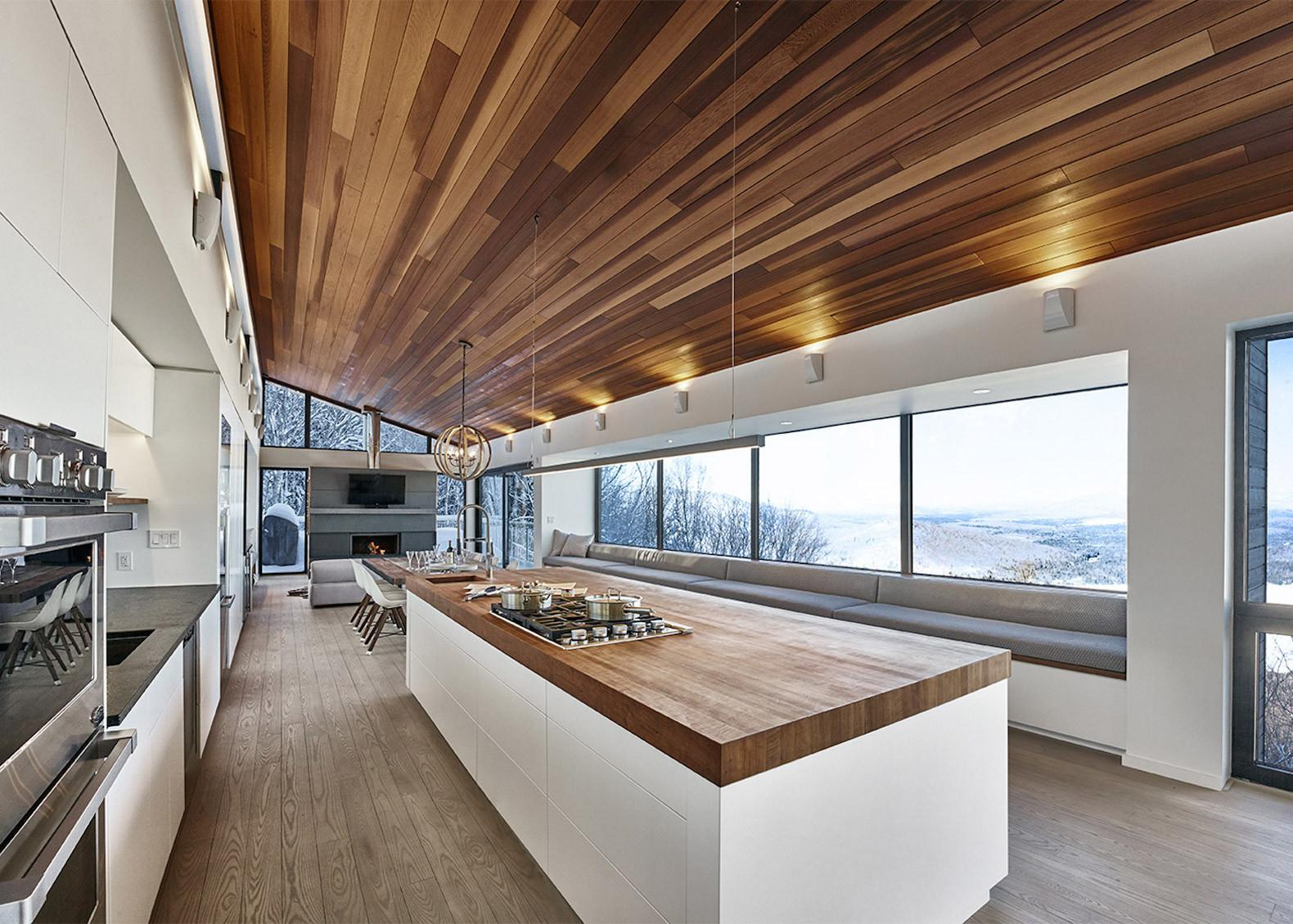Contemporary Ski Chalet Boasts Gorgeous Panoramic Views