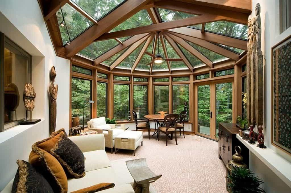 Contemporary Sunroom Ceiling Windows Great