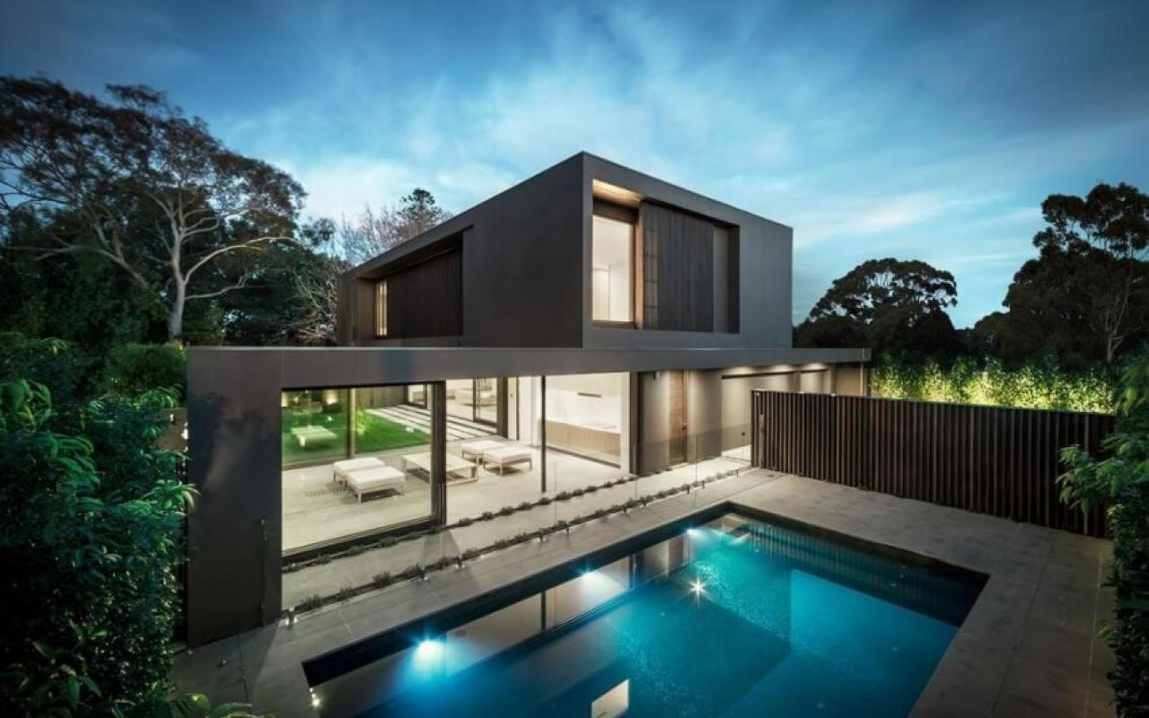 Contemporary Two Story Residence Melbourne Room Design