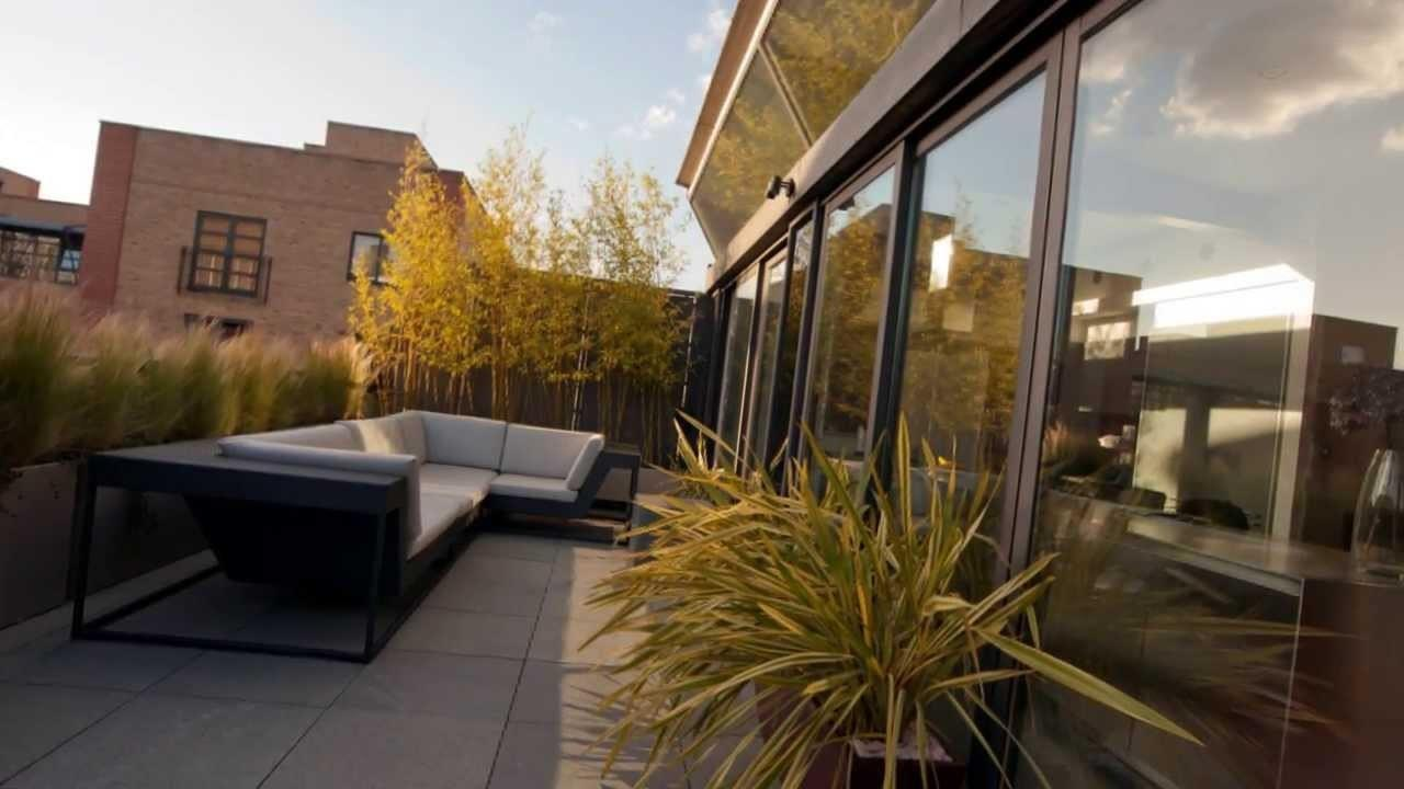 Contemporary Urban Roof Garden Shoreditch