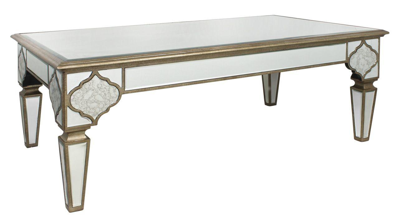 Contemporary Venetian Mirrored Coffee Table Ornate