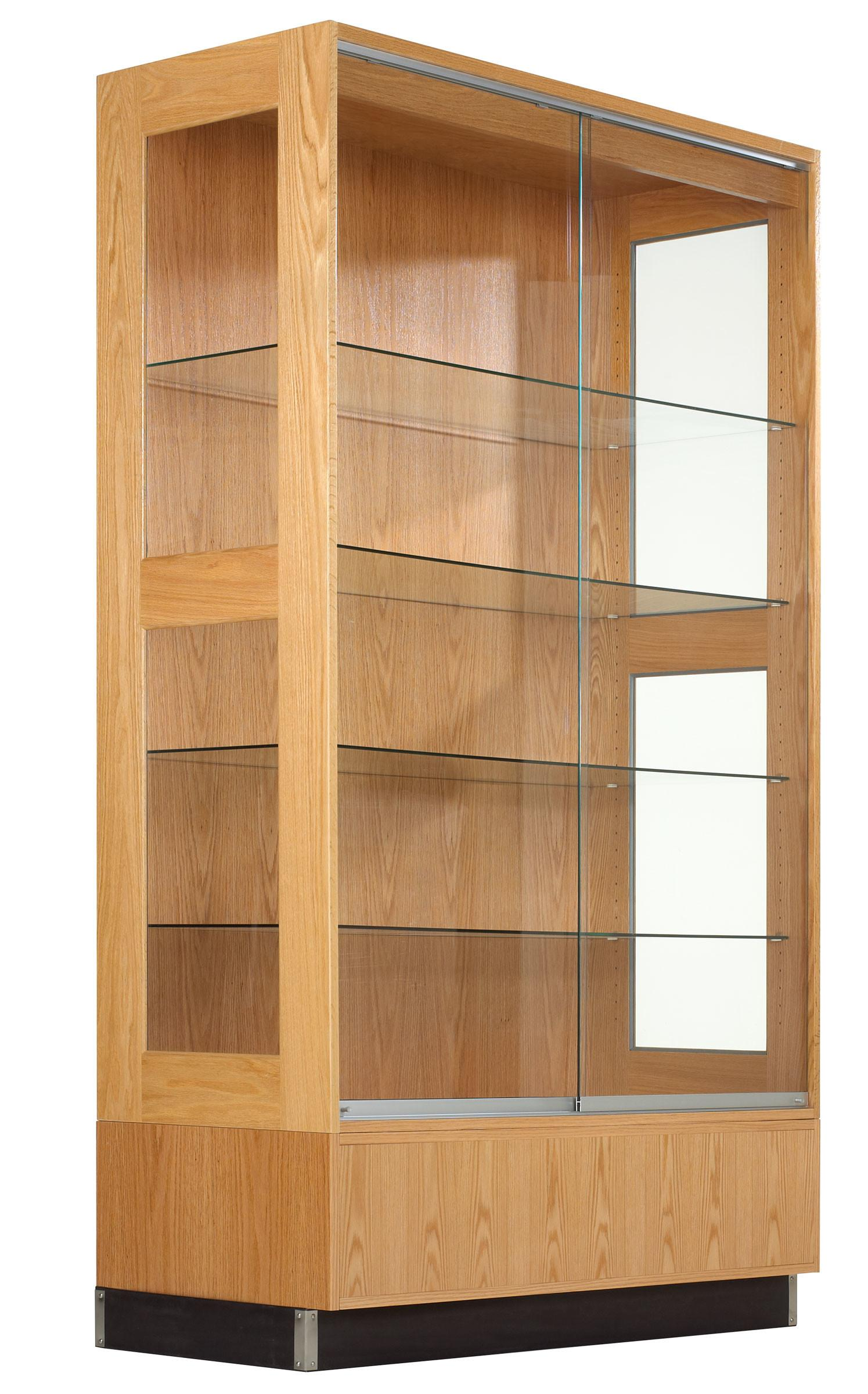 Contemporary Wall Display Cabinet Feature Clear Glass