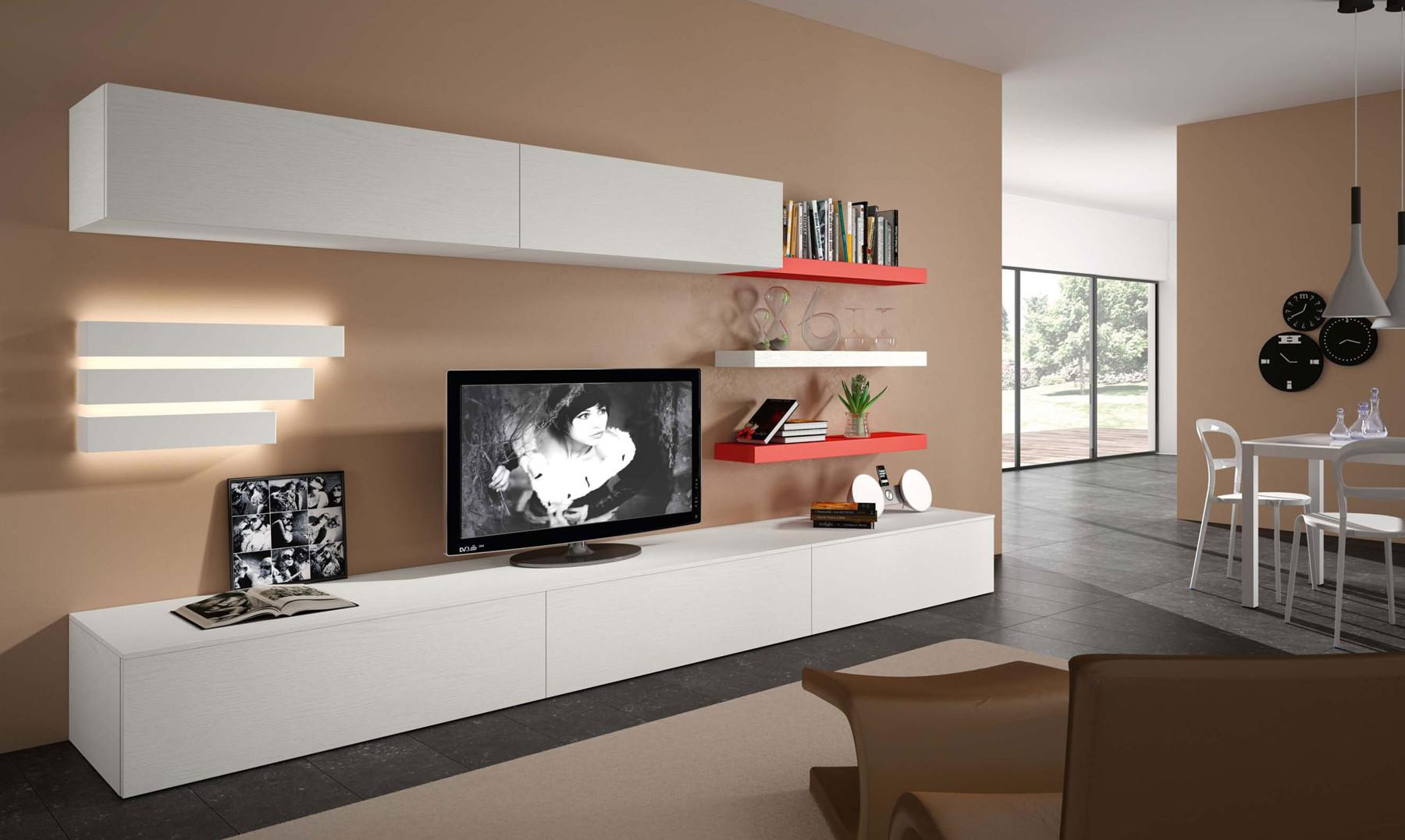 Contemporary Wall Unit Open System Jesse