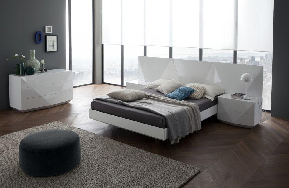 Contemporary Wood Bedroom Furniture Made Italy