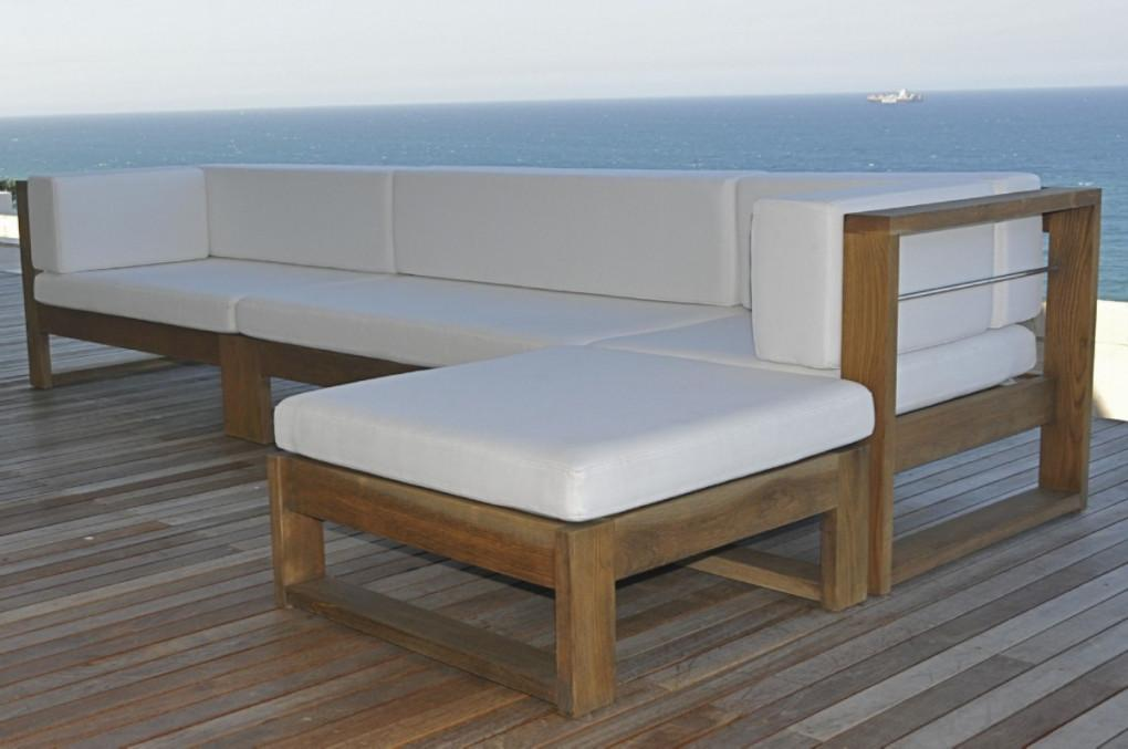 Contemporary Wood Outdoor Furniture Modern Patio