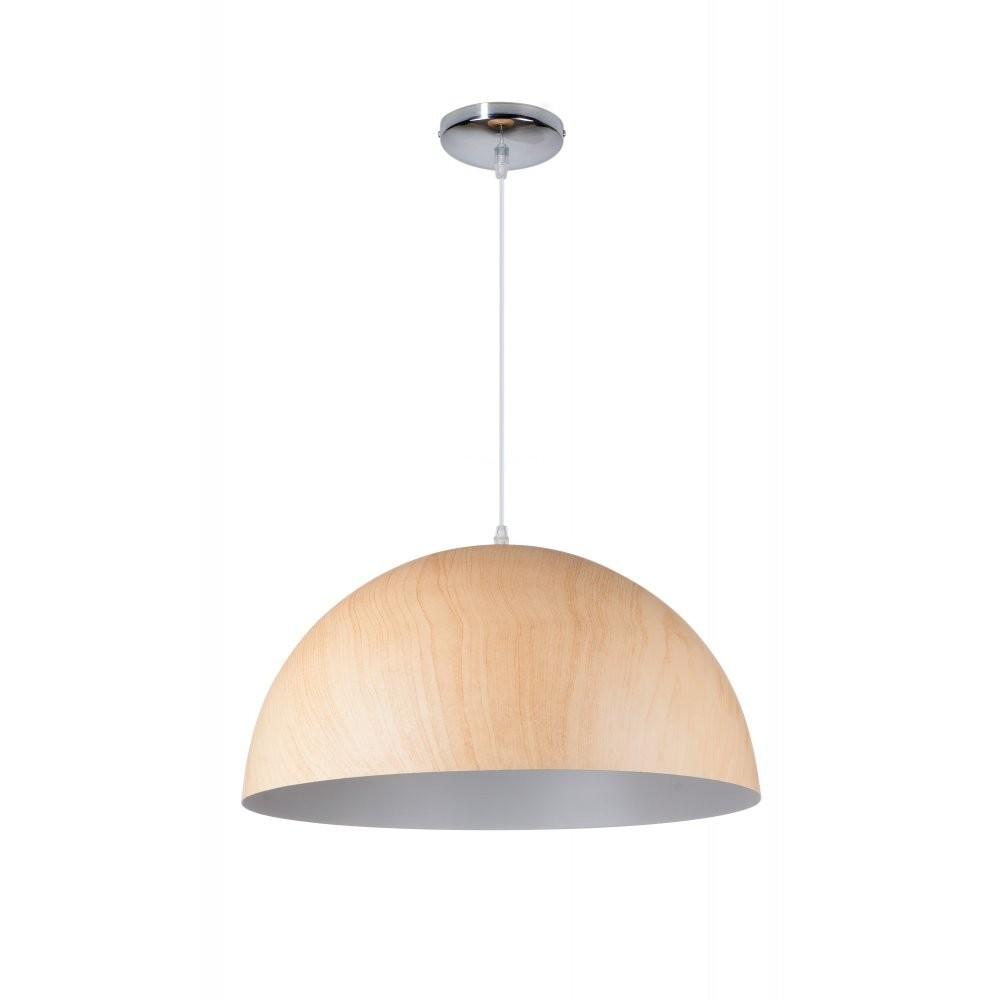 Contemporary Wooden Dome Shade Ceiling Pendant Great