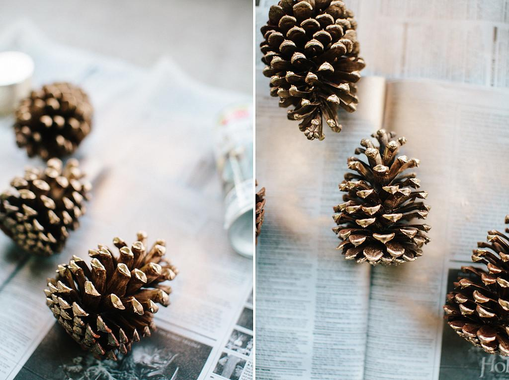 Contradiction Sorts Diy Gold Pine Cone Garland