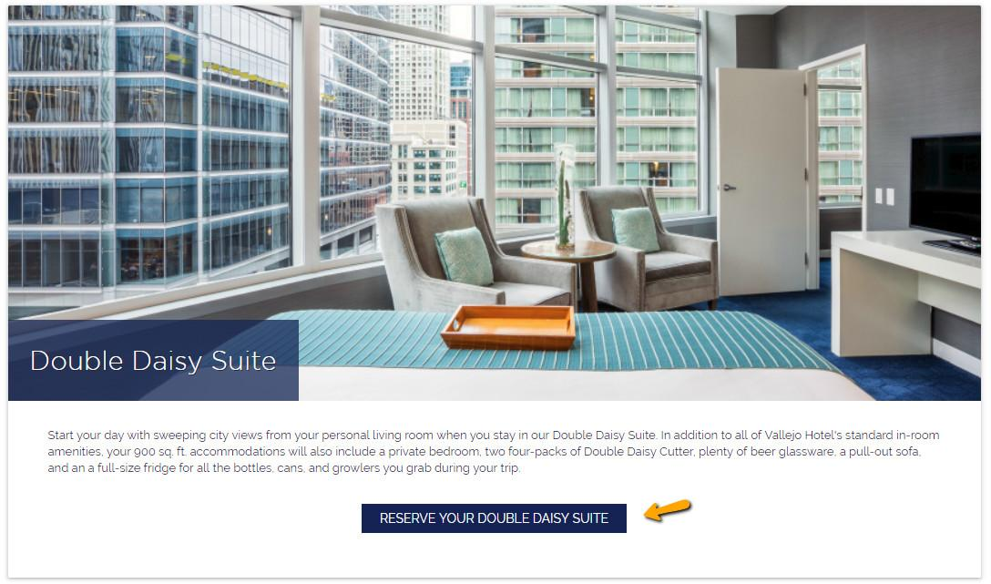 Conversion Rate Optimization Hotel Room Pages Blue
