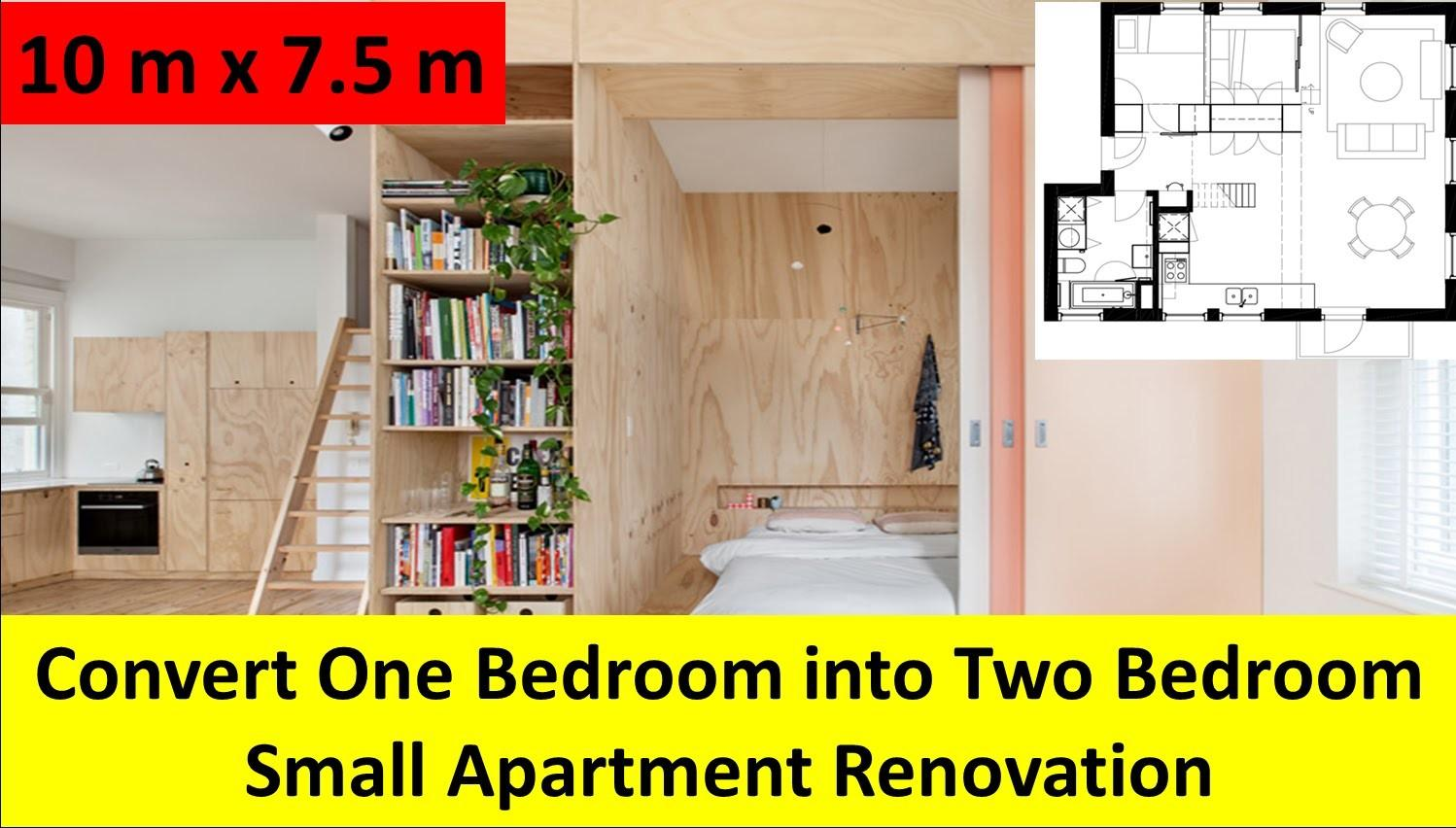 Convert One Bedroom Into Two Small Apartment