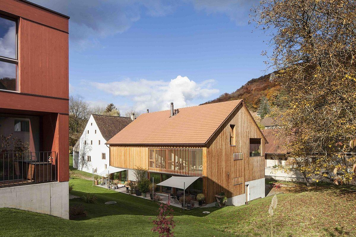 Converted Mill Barn Tiled Roof Conceals Modern Apartments