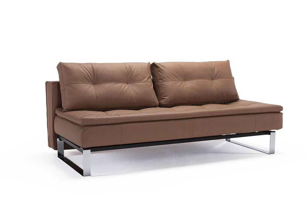 Convertible Sofa Bed Upholstered Fabric Leather