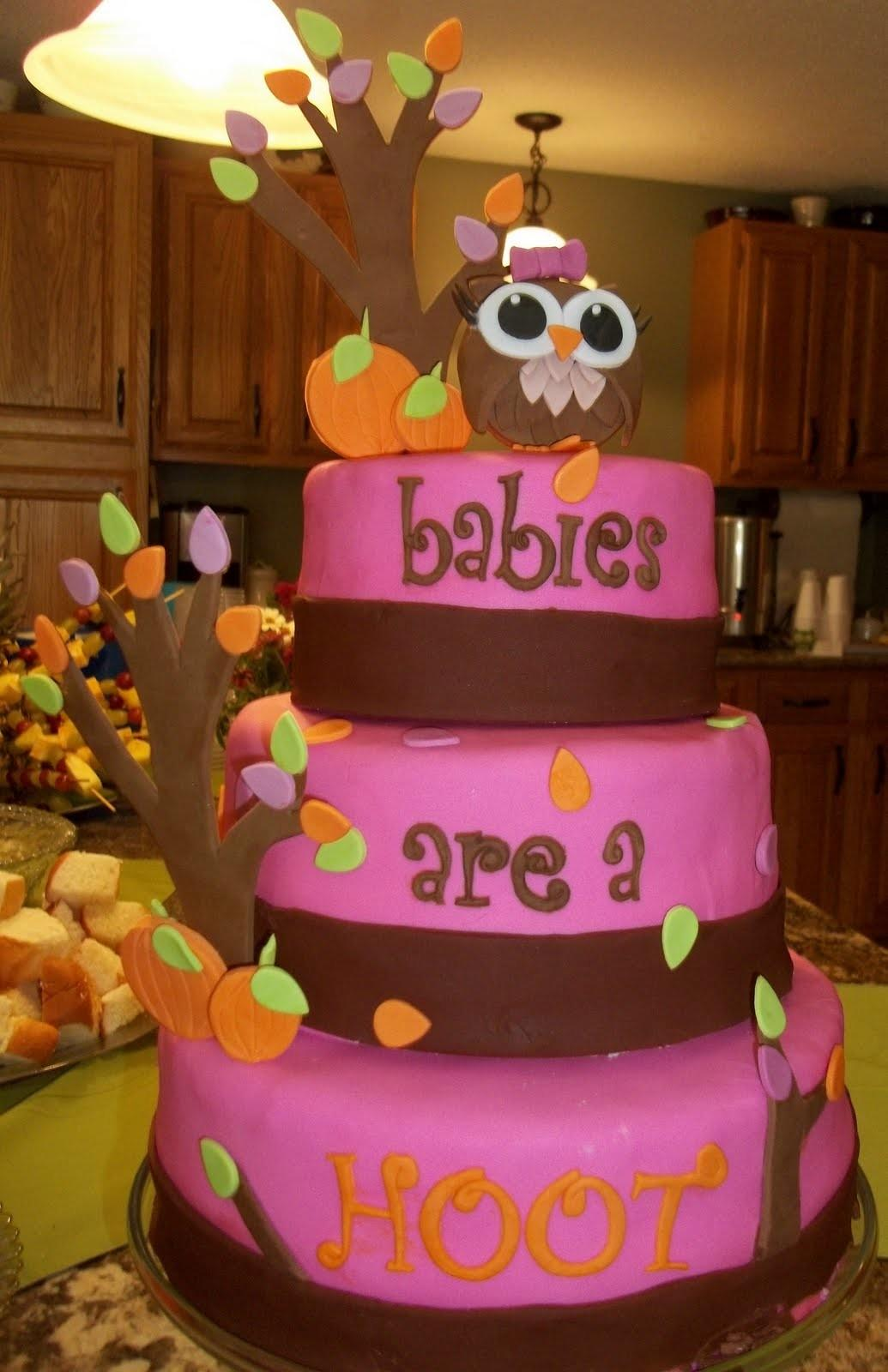 Cookie Couture Owl Themed Baby Shower