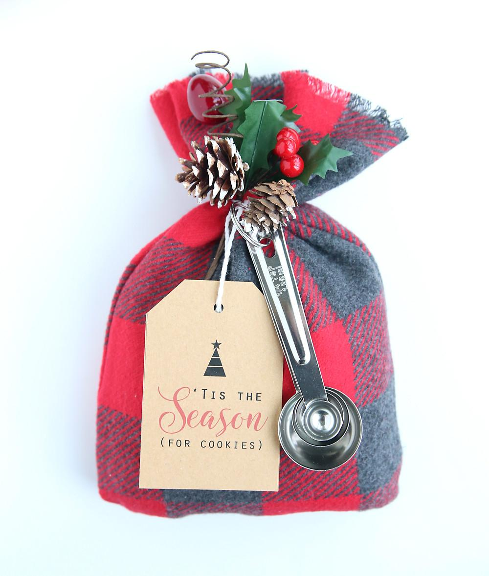 Cookie Mix Gift Sack Easy Diy Christmas Idea