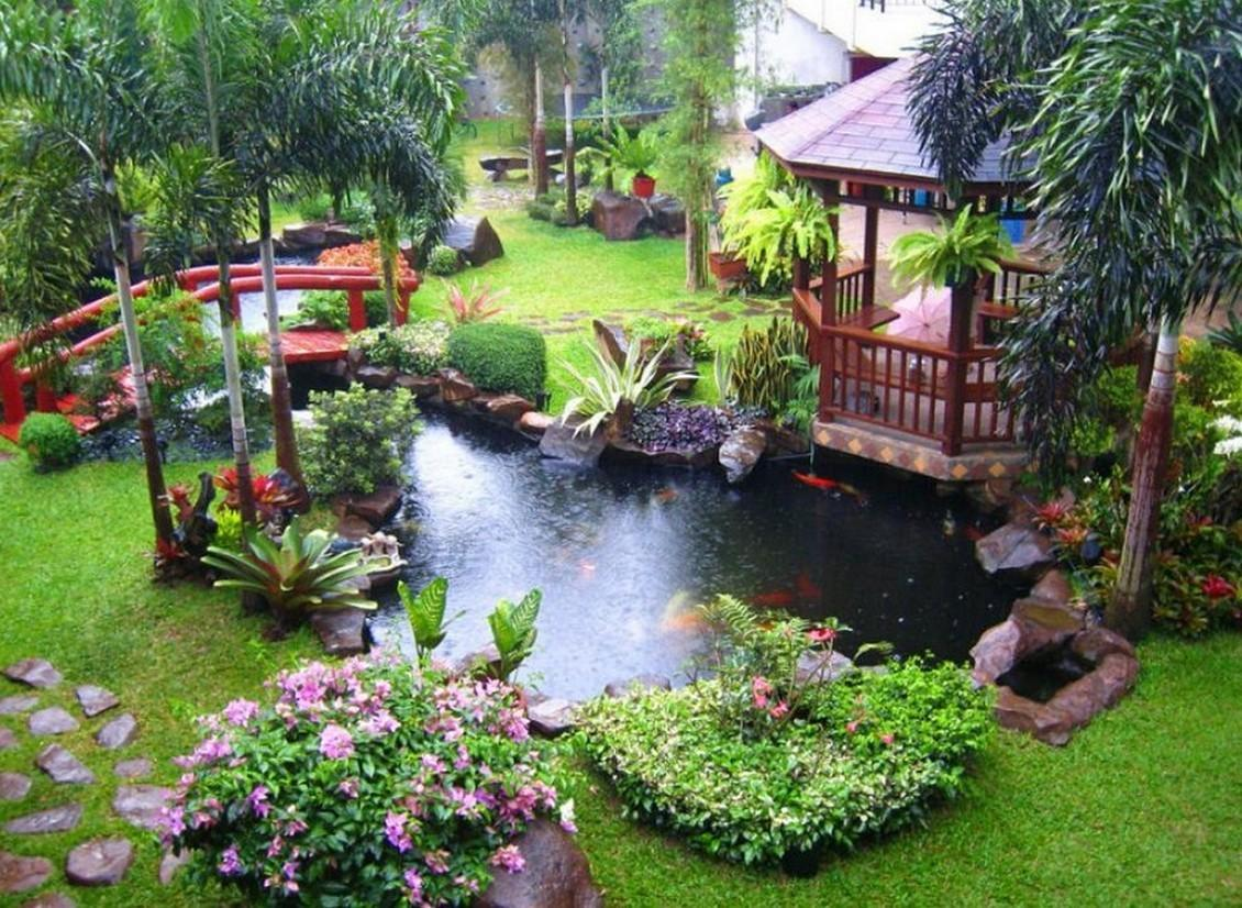 Cool Backyard Pond Garden Design Ideas Amazing