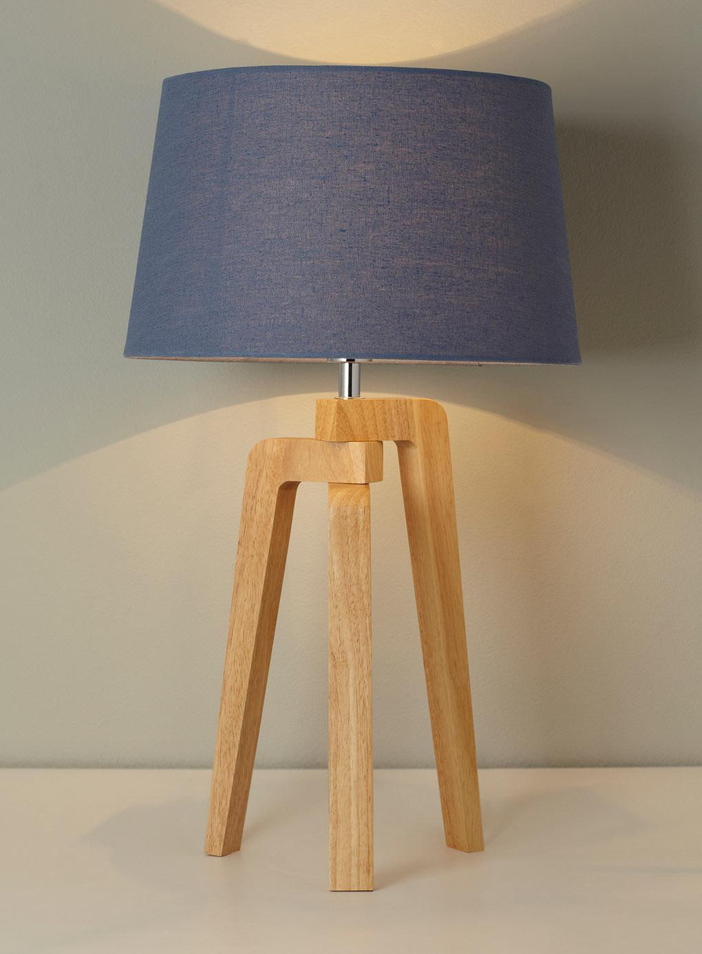 Cool Contemporary Wooden Table Lamp Design Presenting
